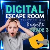 3rd Grade Math Digital Escape Rooms YEARLONG BUNDLE