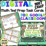 3rd Grade Math Digital Task Cards: 3rd Grade Boot Camp Test Prep (Geo Standards)