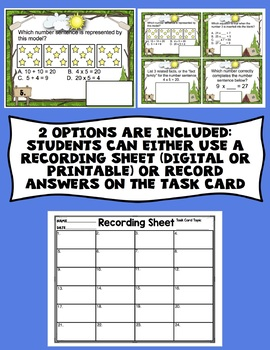 3rd Grade Math Digital Task Cards: 3rd Grade End of the Year Math Review Bundle