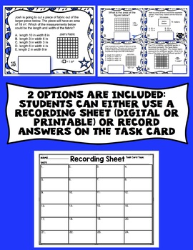 3rd Grade Math Digital Task Cards: 3rd Grade Rock the Test Prep (MD Standards)