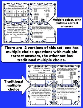 3rd Grade Math Digital Task Cards: 3rd Grade Rock the Test Prep (OA Standards)