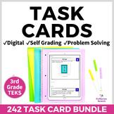 3rd Grade Math Digital Task Cards Bundle for Google Distan