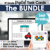 3rd Grade Math Digital Task Cards Bundle   Google Forms & Slides