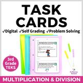 3rd Grade Math Digital Task Cards: Set 5 Multiplication &