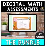3rd Grade Math Distance Learning | Google Form Assessments BUNDLE