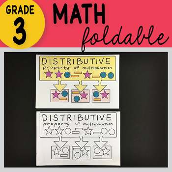 3rd Grade Math Distributive Property of Multiplication Foldable by Math Doodles