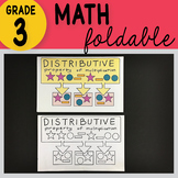 Doodle Notes - 3rd Grade Math Distributive Property of Multiplication Foldable