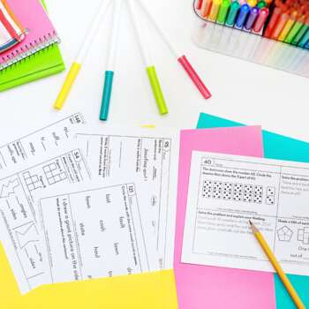 3rd Grade Homework Bundle • Spiral Review Math and ELA Homework 3rd