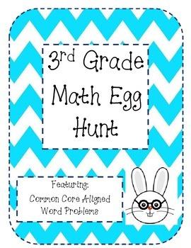 3rd Grade Math Easter Egg Hunt (Common Core Aligned Word P