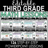 3rd Grade Math Editable PowerPoint Lessons - Growing Bundle!