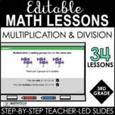 3rd Grade Math Editable PowerPoint Lessons - Multiplicatio