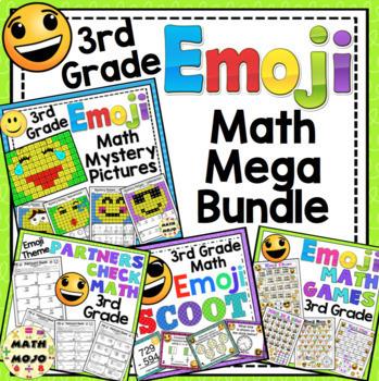 3rd Grade Math Emoji Themed Mega Bundle