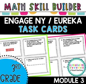 3rd Grade Math EngageNY Module 3 Task Cards