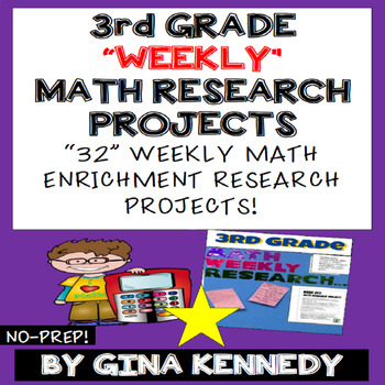 3rd Grade Math Projects, Weekly Math Enrichment Projects for the Entire Year!