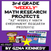 3rd Grade Math Projects, Weekly Math Enrichment Projects f