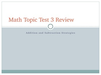 Envision 3: addition and subtraction strategies common core