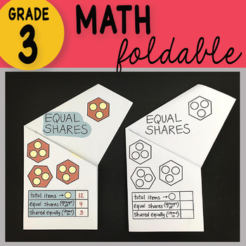 Doodle Notes - 3rd Grade Math Equal Shares Foldable