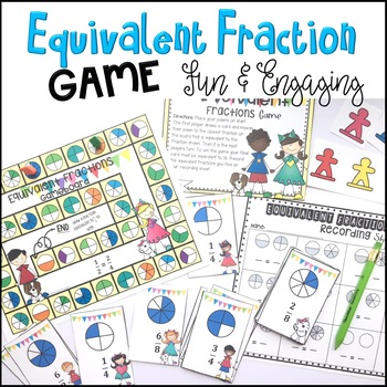 3rd Grade Equivalent Fraction Game Common Core Math Center