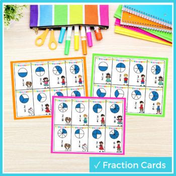 3rd Grade Equivalent Fraction Game TEKS 3.3F 3.3A 3.3C 3.3G