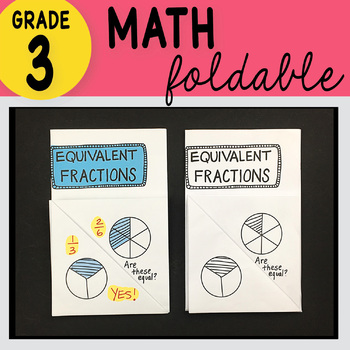 Doodle Notes - 3rd Grade Math Equivalent Fractions Foldable