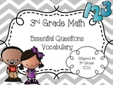 3rd Grade Math Essential Questions and Vocabulary for Each CCSS