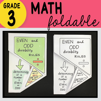 Doodle Notes - 3rd Grade Math Even and Odd Divisibility Rules Foldable