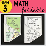 Doodle Notes - 3rd Grade Math Even and Odd Divisibility Ru