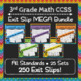 3rd Grade Math Exit Slips Digital + Paper MEGA Bundle: Google + PDF Exit Tickets
