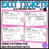 3rd Grade Math Exit Slips #2- I Can Use Patterns for Multiplication Facts
