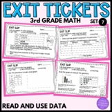 3rd Grade Math Exit Slips #7- I Can Read and Use Data