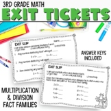 3rd Grade Math Exit Slips #4-I Can Use Multiplication Facts to Divide