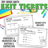 3rd Grade Math Exit Slips 8 for I Can Use Properties to Add and Subtract