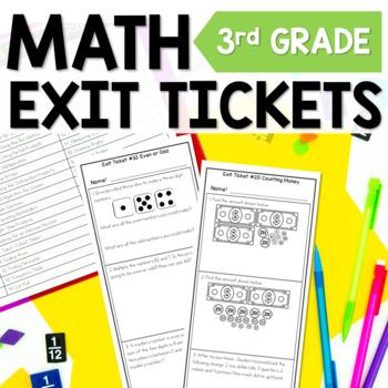 3rd Grade Math Exit Tickets