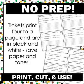 #BTSBlackFriday 3rd Grade Math Exit Tickets Bundle Common Core Aligned No Prep