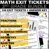 #MarkdownMonday 3rd Grade Math Exit Tickets Bundle Common Core Aligned No Prep