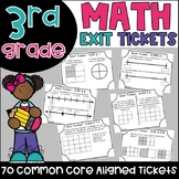 3rd Grade Math Exit Tickets {Exit Slips}