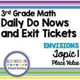 3rd Grade Math - Exit Tickets and Do Nows- Topic 1 Numeration and Place Value