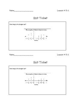 3rd Grade Math - Exit Tickets and Do Nows - Topic 16  Data and Graphing