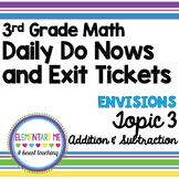 3rd Grade Math - Exit Tickets and Do Nows - Topic 3 Addition and Subtraction