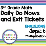 3rd Grade Math - Exit Tickets and Do Nows - Topic 6 Multiplication