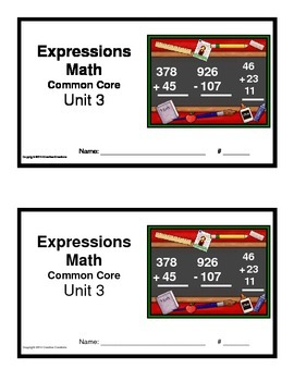 3rd Grade Math Expressions Common Core: Unit 3 Measurement, Time and Graphs