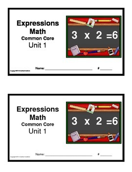 3rd Grade Math Expressions Common Core:Unit 1 Mult.& Div with 0-5, 9 & 10 (2/pg)