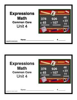 3rd Grade Math Expressions Common Core:Unit 4 Multidigit A