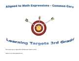 3rd Grade Math Expressions Learning Targets