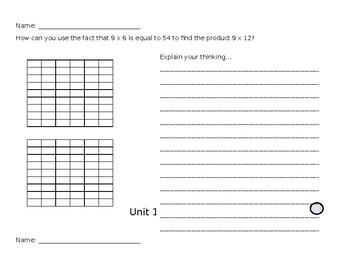 3rd Grade Math Expressions - Unit 2 (Lessons 1-3)