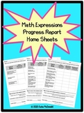 3rd Grade Math Expressions Unit Progress Report Home Sheets