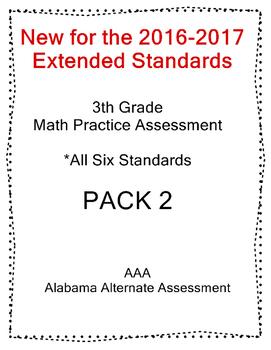 3rd Grade Math Extended Standards PACK 2 Test Alabama Alternate Assessment