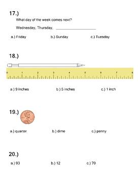 3rd Grade Math Extended Standards Practice Test Alabama Alternate Assessment