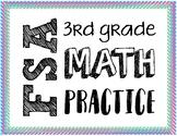 3rd Grade Math FSA Sample Items (Test Spec Items) Task Cards (Format 1)