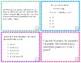 3rd Grade Math FSA Sample Items (Test Spec Items) Task Cards (Format 2)